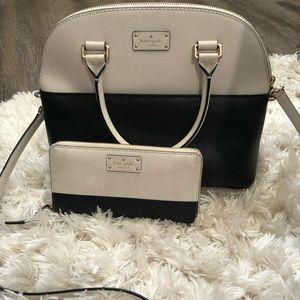 Kate Spade shoulder bag + matching wallet